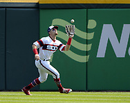 CHICAGO - SEPTEMBER 10:  Adam Engel #41 of the Chicago White Sox catches a fly ball while playing centerfield against the San Francisco Giants on September 10, 2017 at Guaranteed Rate Field in Chicago, Illinois.  The White Sox defeated the Giants 8-1.  (Photo by Ron Vesely) Subject:   Adam Engel