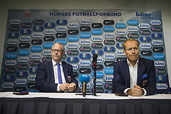 September 2, 2017 - Oslo, NORWAY - 170902 Lars LagerbÅck, head coach of Norway and Svein Graff, Communications director of the Norwegian Football Association (NFF) during a press conference on September 2, 2017 in Oslo..Photo: Fredrik Varfjell / BILDBYRN / kod FV / 150001 (Credit Image: © Fredrik Varfjell/Bildbyran via ZUMA Wire)