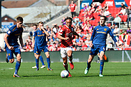 Bobby Reid (14) of Bristol City on the attack during the EFL Sky Bet Championship match between Bristol City and Hull City at Ashton Gate, Bristol, England on 21 April 2018. Picture by Graham Hunt.