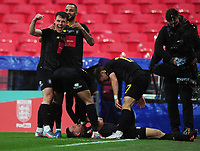 Football - 2019 / 2020 Buildbase FA Trophy - Final - Concord Rangers vs Harrogate Town - Wembley Stadium<br /> <br /> Josh Falkingham of Harrogate celebrates scoring the only goal of the match<br /> <br /> Credit : COLORSPORT/ANDREW COWIE