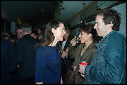VICTORIA SIDDALL; JONTY CLAYPOLE, Frieze party, ACE hotel Shoreditch. London. 18 October 2014