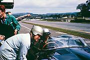 Goodwood BARC race 18th May 1963, Lotus-Climax racing car Jiohn Coundley Racing Partnership, Pat Coundley in car