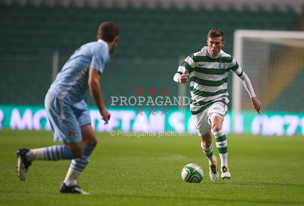 GLASGOW, SCOTLAND - Monday, November 7, 2011: Glasgow Celtic's Paul George in action against Manchester City during the NextGen Series Group 1 match at Celtic Park. (Pic by David Rawcliffe/Propaganda)