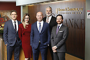 SHOT 1/8/19 12:17:55 PM - Bachus & Schanker LLC lawyers James Olsen, Maaren Johnson, J. Kyle Bachus, Darin Schanker and Andrew Quisenberry in their downtown Denver, Co. offices. The law firm specializes in car accidents, personal injury cases, consumer rights, class action suits and much more. (Photo by Marc Piscotty / © 2018)
