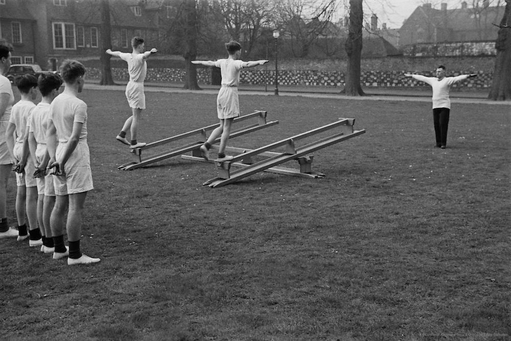 King's School, Canterbury, physical exercise, England c.1930