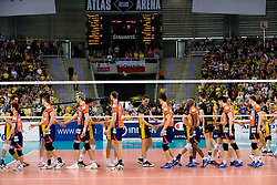 Before the match for 3rd place of CEV Indesit Champions League FINAL FOUR tournament between PGE Skra Belchatow, POL and ACH Volley Bled, SLO on May 2, 2010, at Arena Atlas, Lodz, Poland.  (Photo by Vid Ponikvar / Sportida)