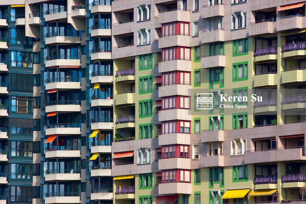 New apartment building, Geneva, Switzerland