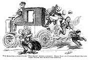 """With motor-cabs a substitute for """"whip behind"""" becomes a necessity. Messrs Start and Jumpkin's patent galvanic urchin tickler will be found most effective."""