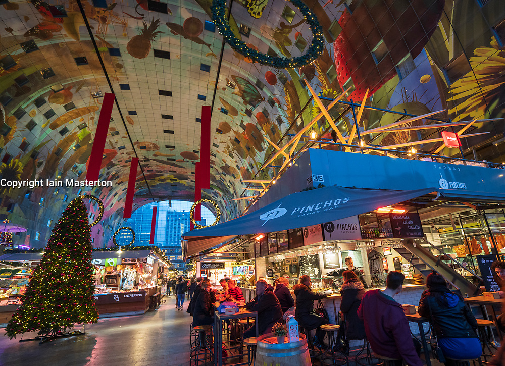 The modern residential and commercial property development, Markthal , Market Hall, in Rotterdam, The Netherlands