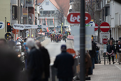 The peloton approaches De Panne for the first time during the AG Driedaagse Brugge-De Panne - a 134.4 km road race, between Brugge and De Panne on April 21, 2018, in West Flanders, Belgium. (Photo by Balint Hamvas/Velofocus.com)