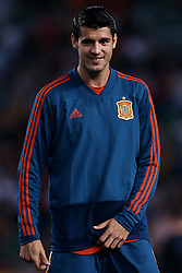 September 11, 2018 - Elche, Alicante, Spain - Alvaro Morata of Spain looks on prior to the during the UEFA Nations League A group four match between Spain and Croatia at Manuel Martinez Valero on September 11, 2018 in Elche, Spain  (Credit Image: © David Aliaga/NurPhoto/ZUMA Press)