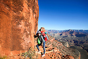 Hiking in the Grand Canyon National Park, Arizona, USA