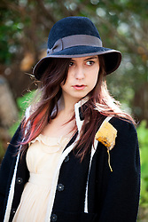 Teenage Girl Wearing Floppy Hat