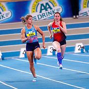 NLD/Apeldoorn/20180217 - NK Indoor Athletiek 2018, Patricia Krolis, Dafne Schippers, Evelien Bos en Moniek Riemersma