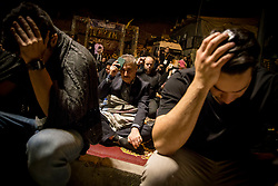 May 27, 2019: Tehran, Iran: Iranian worshipers pray at Kahf Al-Shohada on the 21th day of Ramadan as eventual Laylat al-Qadr (Night of Power), one of the Muslim's holiest nights, in Tehran, Iran. Iranian people assume that 19th, 21st and 23rd days of Ramadan are probable Laylat al-Qadr night and named as Shab-i Ihya. They gather in mosques on these three nights and pray until the morning. (Credit Image: © Rouzbeh Fouladi/ZUMA Wire)