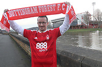 A general view of The City Ground Stadium home of Nottingham Forest Football Club.A Nottingham Forest fan awaits the kick off<br /> <br /> Photographer Mick Walker/CameraSport<br /> <br /> The EFL Sky Bet Championship - Nottingham Forest v Brentford - Tuesday 7th March 2016 - The City Ground - Nottingham<br /> <br /> World Copyright © 2017 CameraSport. All rights reserved. 43 Linden Ave. Countesthorpe. Leicester. England. LE8 5PG - Tel: +44 (0) 116 277 4147 - admin@camerasport.com - www.camerasport.com