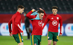 LEUVEN, BELGIUM - Wednesday, March 24, 2021: Wales' Connor Roberts during the pre-match warm-up before the FIFA World Cup Qatar 2022 European Qualifying Group E game between Belgium and Wales at the King Power Den dreef Stadium. Belgium won 3-1. (Pic by Vincent Van Doornick/Isosport/Propaganda)