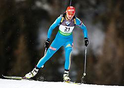 "19.01.2012, Südtirol Arena, Antholz, ITA, E.ON IBU Weltcup, 6. Biathlon, Antholz, Sprint Damen, im Bild Olena Pidhrushna (UKR) // Olena Pidhrushna (UKR) during Sprint Women E.ON IBU World Cup 6th, ""South Tyrol Arena"", Antholz-Anterselva, Italy on 2012/01/19, EXPA Pictures © 2012, PhotoCredit: EXPA/ Juergen Feichter"