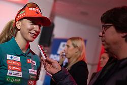 Polona Klemencic during press conference of Slovenian Nordic Ski Cross country team before new season 2019/20, on Novamber 12, 2019, in Petrol, Ljubljana, Slovenia. Photo Grega Valancic / Sportida