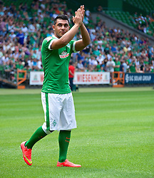 03.08.2014, Weserstadion, Bremen, GER, SV Werder Bremen, Tag der Fans, im Bild Oezkan / Özkan Yildirim (Bremen #17) // during the supporters day of the german 1st Bundesliga Club SV Werder Bremen at the Weserstadion in Bremen, Germany on 2014/08/03. EXPA Pictures © 2014, PhotoCredit: EXPA/ Andreas Gumz<br /> <br /> *****ATTENTION - OUT of GER*****