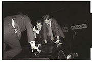 HOORAY HENRIES on porshe roof, Pub crawl in sW3. 1981.