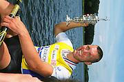 2002 FISA World Cup. Hazewinkel. BEL.       Friday  14/06/2002     .email images@Intersport-images.com.[Mandatory Credit: Peter Spurrier/Intersport Images]  .                                 /06/2002.Rowing. .Men's  single                                 Sculls Medals;  .Gold, GER M1X. Marcel HACKER. Rowing, FISA WC.Hazenwinkel, BEL