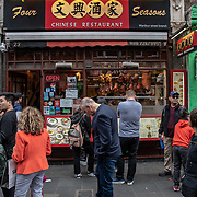 Four Seasons in London Chinatown Sweet Tooth Cafe and Restaurant at Newport Court and Garret Street on 15 June 2019, UK.