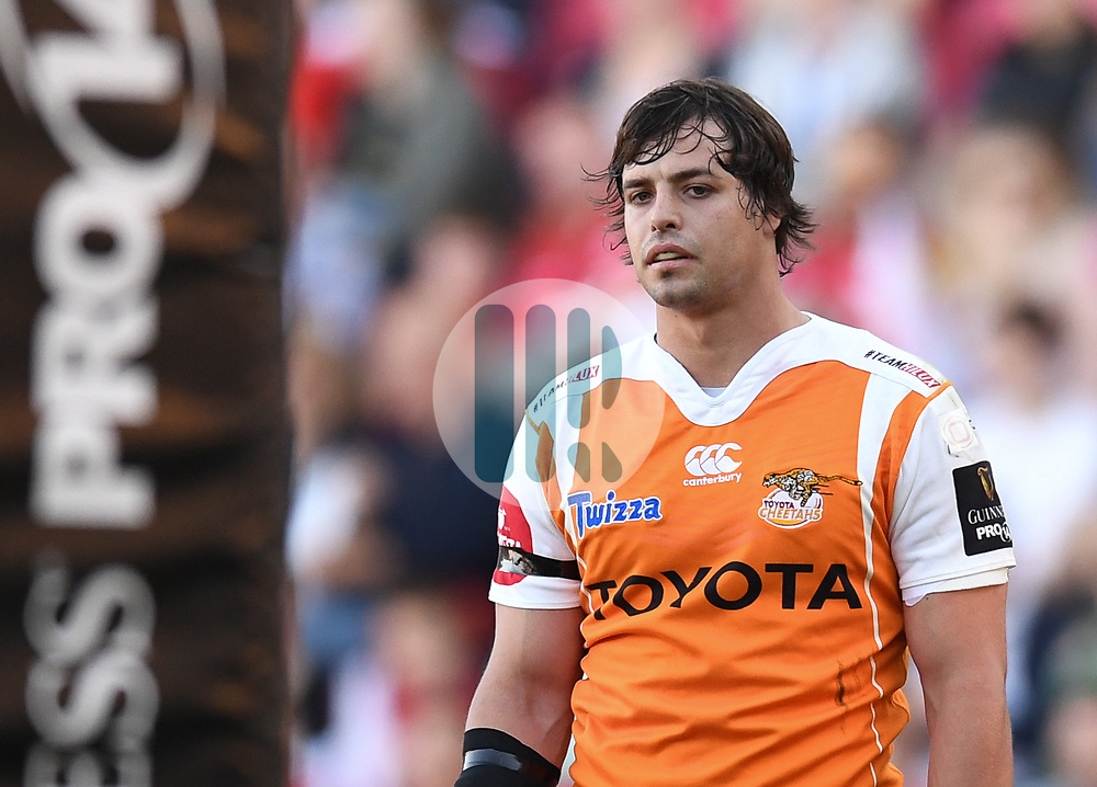 Cheetahs Francois Venter<br /> <br /> Photographer Mike Jones/Replay Images<br /> <br /> Guinness PRO14 Round 22 - Scarlets v Cheetahs - Saturday 5th May 2018 - Parc Y Scarlets - Llanelli<br /> <br /> World Copyright © Replay Images . All rights reserved. info@replayimages.co.uk - http://replayimages.co.uk