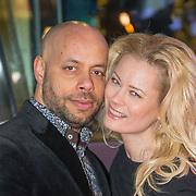 NLD/Amsterdam/20150401 - Premiere Fast & Furious 7, Monique Sluyter en parner Humphrey Proeve