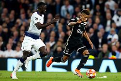 David Neres of Ajax takes on Moussa Sissoko of Tottenham Hotspur - Mandatory by-line: Robbie Stephenson/JMP - 30/04/2019 - FOOTBALL - Tottenham Hotspur Stadium - London, England - Tottenham Hotspur v Ajax - UEFA Champions League Semi-Final 1st Leg