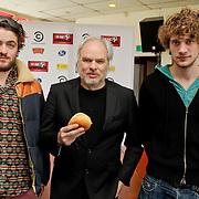 NLD/Amsterdam/20120313 - Perspresentatie Hi Ha Hondenlul, Teddy Cherim, Nico Dijkshoorn en Kees van Nieuwkerk