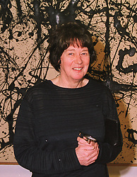 Artist BRIDGET RILEY at a dinner in London on 8th March 1999.MPC 39 wo