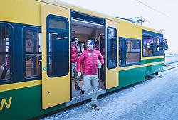 15.01.2020, Jungfrauenjoch, Wengen, SUI, FIS Weltcup Ski Alpin, Vorberichte, im Bild v.l. Johannes Kröll (AUT), Otmar Striedinger (AUT) // f.l. Johannes Kröll of Austria Otmar Striedinger of Austria during a preliminary reports prior to the FIS ski alpine world cup at the Jungfrauenjoch in Wengen, Switzerland on 2020/01/15. EXPA Pictures © 2020, PhotoCredit: EXPA/ Johann Groder **** ACHTUNG - dieses Bilddatei ist für den Grossformatdruck in einer maximalen Grösse mit mehr als 18142 x 6717 pixel (ca. 700 MB) verfügbar! Fragen Sie nach den hochauflösenden Daten // ATTENTION - This image file is for Large Format Printing available in a maximum size of more then 18142 x 6717 pixels (about 700 MB)! Ask for the high-resolution data. ****