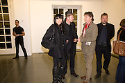 SERENA REES; PAUL SIMONON; DANNY MOYNIHAN; JUERGEN TELLER.  Rebecca Warren exhibition opening at the Serpentine Gallery. London.  9 March  2009 *** Local Caption *** -DO NOT ARCHIVE -Copyright Photograph by Dafydd Jones. 248 Clapham Rd. London SW9 0PZ. Tel 0207 820 0771. www.dafjones.com<br /> SERENA REES; PAUL SIMONON; DANNY MOYNIHAN; JUERGEN TELLER.  Rebecca Warren exhibition opening at the Serpentine Gallery. London.  9 March  2009