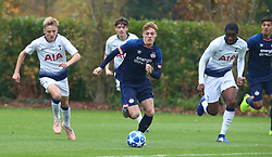 November 6, 2018 - London, England, United Kingdom - Enfield, UK. 06 November, 2018.Yorbe Vertessen of PSV Eindhoven (Blue) (Middle).during UEFA Youth League match between Tottenham Hotspur and PSV Eindhoven at Hotspur Way, Enfield. (Credit Image: © Action Foto Sport/NurPhoto via ZUMA Press)