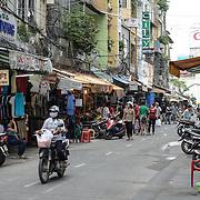 Street markets in the Cho Lon in Ho Chi Minh City (Saigon), Vietnam.