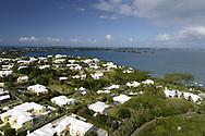 View of Hog Bay looking towards Somerset Village, Bermuda Island, a British island territory in the North Atlantic Ocean.