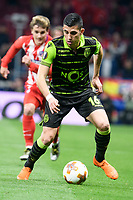 Sporting de Lisboa Rodrigo Battaglia during UEFA Europa League match between Atletico de Madrid and Sporting de Lisboa at Wanda Metropolitano in Madrid, Spain. April 05, 2018. (ALTERPHOTOS/Borja B.Hojas)