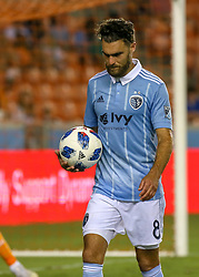July 18, 2018 - Houston, TX, U.S. - HOUSTON, TX - JULY 18:  Sporting Kansas City midfielder Graham Zusi (8) prepares for a corner during the US Open Cup Quarterfinal soccer match between Sporting KC and Houston Dynamo on July 18, 2018 at BBVA Compass Stadium in Houston, Texas. (Photo by Leslie Plaza Johnson/Icon Sportswire) (Credit Image: © Leslie Plaza Johnson/Icon SMI via ZUMA Press)