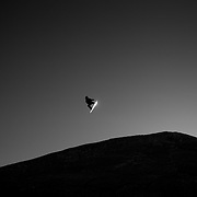 A competitor in action at sunrise during the Women's Slopestyle competition at the Burton New Zealand Open 2011 held at Cardrona Alpine Resort, Wanaka, New Zealand, 8th-13th August 2011. Photo Tim Clayton