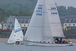 Day 2 Scottish Series, SAILING, Scotland.<br /> <br /> Class 6, Valhalla of Ashton, Swan 36, GBR2496<br /> <br /> The Scottish Series, hosted by the Clyde Cruising Club is an annual series of races for sailing yachts held each spring. Normally held in Loch Fyne the event moved to three Clyde locations due to current restrictions. <br /> <br /> Light winds did not deter the racing taking place at East Patch, Inverkip and off Largs over the bank holiday weekend 28-30 May. <br /> <br /> Image Credit : Marc Turner / CCC