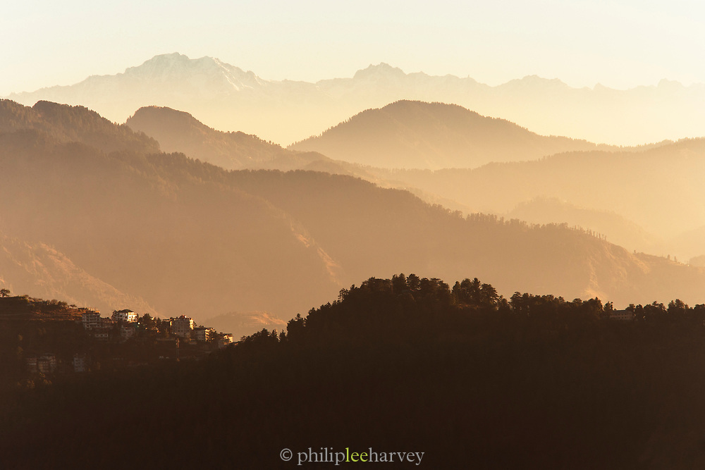 A view of Himalayan ranges, seen from Jakhoo Temple in Shimla