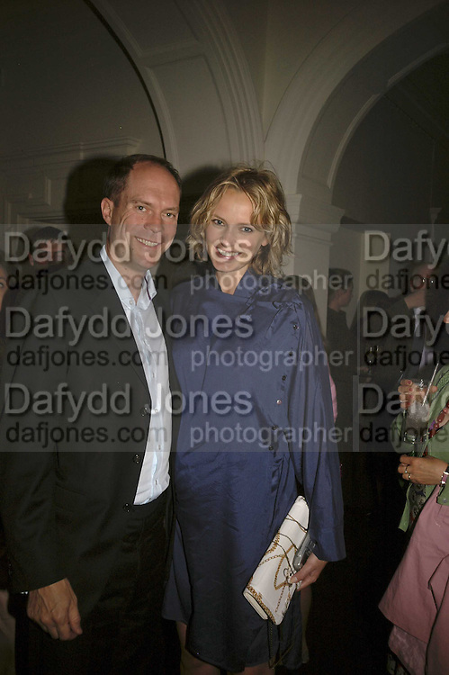 Harry and Bodil Blain, VIP opening of Bill Viola exhibition Love/Death: The Tristan project. Haunch of Venison, St Olave's College, Tooley St. London and Dinner afterwards at Banqueting House. Whitehall. 19 June 2006. ONE TIME USE ONLY - DO NOT ARCHIVE  © Copyright Photograph by Dafydd Jones 66 Stockwell Park Rd. London SW9 0DA Tel 020 7733 0108 www.dafjones.com