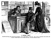 """A Novel Fact. Old-fashioned party (with old-fashioned prejudices). """"Ah! Very clever, I dare say. But I see it's written by a lady, and I want a book that my DAUGHTERS may read. Give me something else!"""""""