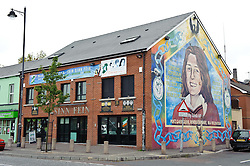 Bobby Sands MP mural in the Falls Road, Belfast, Northern Ireland<br /> <br /> (c) Andrew Wilson | Edinburgh Elite media
