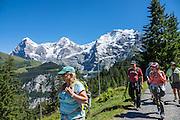 Mürren, Lauterbrunnen Valley, Switzerland, the Alps, Europe. For licensing options, please inquire.
