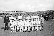 The Cork team before the All Ireland Minor Gaelic Football Final Sligo v. Cork in Croke Park on the 22nd September 1968. Cork 3-5, Sligo 1-10.