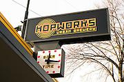 Hopworks Urban Brewery is an organic brewery and restaurant in Portland, Oregon.