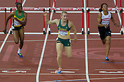 Mcc0055084 . Daily Telegraph<br /> <br /> Australia's Sally Pearson wins Gold in the Women's 100m Hurdles Final on Day 9 of the 2014 Commonwealth Games .<br /> <br /> <br /> Glasgow 1 August 2014