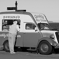 Doriano Ice Cream Van on the sea promenade in Leven, Fife, Scotland